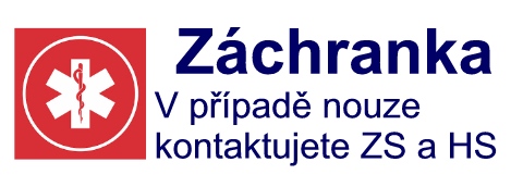 Záchranka - v případě nouze jednoduchým způsobem kontaktujete Zdravotnickou záchrannou službu a Horskou službu